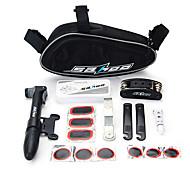 abordables -SAHOO Outils & Kits de Réparation Kit de réparation Kit de Pompe de Vélo & Rustine Sans Colle Multifonctionnel Portable Mini 15 en 1 Pour Vélo de Route Vélo tout terrain / VTT Cyclisme Plastique Acier