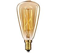 economico -1pc edsion lampadina a incandescenza vintage 40w e14 st48 bianco caldo 2300k lampadina edison 220-240v