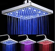 abordables -Pommeau de douche à jet supérieur de couleur lumineuse tricolore à LED avec jet supérieur de température / 9 pouces (placage ABS)