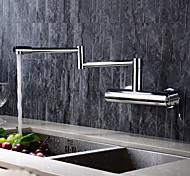 abordables -Robinet de Cuisine - 2 trous Chrome Remplisseur de pot Montage mural Moderne Kitchen Taps