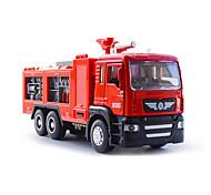 abordables -1h50 Plastique Véhicule de Pompier Véhicule de construction de camion jouet Petites Voiture Musique et Lumière Véhicules à Friction Arrière Camions Incendie Garçon Fille Enfant Jouets de voiture