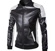 abordables -18LBY6FH Vêtements de moto Veste pour faux cuir Toutes les Saisons Coupe-vent