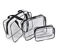 abordables -3pcs Sac de Voyage Organisateur de voyage Organisateur de Bagage Grande Capacité Etanche Portable Résistant à l'humidité PVC Pour Camping & Randonnée Bagages / Durable