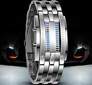 abordables -Homme Montre Montre Digitale Digitale Numérique Numérique Luxe Etanche LED / Acier Inoxydable / Acier Inoxydable