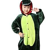 abordables -Enfant Pyjamas Kigurumi Dragon Dinosaure Combinaison de Pyjamas Flanelle Toison Vert Cosplay Pour Garçons et filles Pyjamas Animale Dessin animé Fête / Célébration Les costumes
