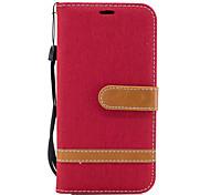 economico -telefono Custodia Per Samsung Galaxy Integrale A3 A5 A5(2016) A3(2016) A portafoglio Porta-carte di credito Con supporto Tinta unita Resistente pelle sintetica
