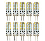 economico -10 pz 2 w led bi-pin luci 100-200 lm g4 t 24 led perline smd 3014 bianco caldo bianco freddo 12 v / 10 pz / rohs