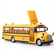 abordables -KDW Plastique Véhicule de Construction Petites Voiture Modèle de Voiture Musique et Lumière Bus Enfant Jouets de voiture