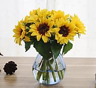 abordables -6 branches tournesol fleurs artificielles décoration de la maison de mariage