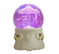 abordables -Boîte à musique Boule à neige Classique Unique Cristal Céramique Verre Femme Unisexe Fille Enfant Adultes Enfants Cadeaux de fin d'études Jouet Cadeau