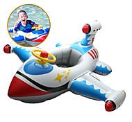 abordables -Jouets Gonflables de Piscine Piscine gonflable Monter sur flotteur de piscine PVC Eté Avion Bleu Enfant Adulte