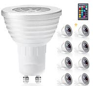 abordables -8pcs gu10 ampoules rgb bombillas led 3w gu10 rgbw ampoule led dimmable blanc gu 10 ampoule led 16 couleurs avec télécommande
