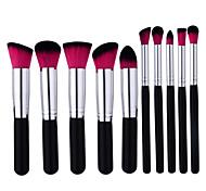 abordables -Professionnel Pinceaux à maquillage ensembles de brosses 10pcs Portable Professionnel Couvrant Bois Pinceaux de Maquillage pour Set de Pinceaux de Maquillage