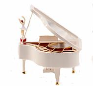 abordables -Boîte à musique Boîte à musique ballerine Danseur de boîte à musique Piano Unique Bois Femme Unisexe Fille Enfant Adultes Cadeaux de fin d'études Jouet Cadeau