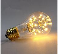abordables -1pc 3 W Ampoules à Filament LED 200-300 lm E26 / E27 A60(A19) 30 Perles LED SMD Décorative Étoilé Blanc Chaud 85-265 V / 1 pièce / RoHs