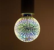 abordables -1 pc 6 W Ampoules Globe LED Ampoules à Filament LED 500 lm E26 / E27 G95 35 Perles LED LED Intégrée Décorative Étoilé Feu d'artifice en 3D Multicolores 85-265 V