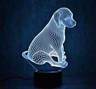 abordables -Veilleuse 3D Imperméable A détecteur Intensité Réglable Ampoules LED Moderne contemporain USB 1 pièce