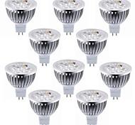 abordables -10 pièces 5.5 W Spot LED 450-500 lm MR16 4 Perles LED LED Haute Puissance Décorative Blanc Chaud Blanc Froid 12 V