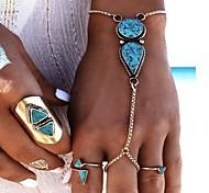 economico -Per donna Turchese Braccialetti anello geometrico Donne Di tendenza Lega Gioielli braccialetto Argento Per Feste Compleanno Regalo San Valentino Costumi Cosplay