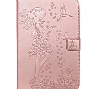 economico -telefono Custodia Per Samsung Galaxy Tab A 8.0 Tab A 9.7 Integrale Tab E 9.6 Tab A 7.0 Tab A 10.1 (2016) A portafoglio Porta-carte di credito Con supporto Farfalla Signora sexy Resistente pelle