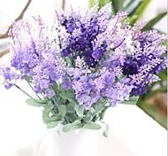 abordables -Fleurs artificielles 1 Une succursale Style européen Lavande Fleur de Table