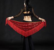 abordables -Danse du ventre Echarpe de Danse du Ventre Femme Utilisation Polyester Paillette / Gland Echarpe de hanche de danse du ventre