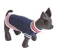 economico -Cane Maglioni Monocolore Di tendenza Casual Inverno Abbigliamento per cani Vestiti del cucciolo Abiti per cani Rosso Blu scuro Costume per ragazza e ragazzo cane Setoso Cotone XS S M L XL