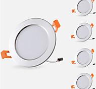 abordables -5pcs 5 W 500 lm 10 Perles LED Installation Facile Encastré Lampes Encastrées LED Encastrées Blanc Chaud Blanc Froid 85-265 V Maison / Bureau Chambre des Enfants Cuisine / 5 pièces / RoHs / CE