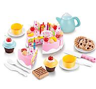 abordables -Nourriture Factice / Faux Aliments Gâteau Couteaux à Gâteau & Biscuit Plastique Enfant Fille Jouet Cadeau 54 pcs