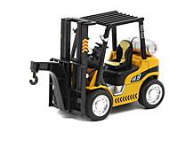 abordables -Véhicule de Construction Grue Chariot Elévateur Camions Véhicules de Construction Petites Voiture Véhicules en Métal Chariot Elévateur Unisexe Enfant Jouets de voiture