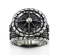 economico -Anello Logo Argento Acciaio inossidabile Acciaio al titanio Donne Gotico 7 8 9 10 11 / Per donna / Per uomo