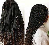 abordables -Fausses Locs Dreadlocks Déesse Locs Tresses de boîte Cheveux Synthétiques Rajouts de Tresses 1 paquet 24 racines / paquet 5pack pour une tête