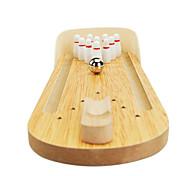 economico -Bowling da tavolo Giochi da tavolo Set giocattoli per bowling Giochi di bowling di legno Mini Professionale Per bambini Per adulto Da ragazzo Da ragazza Giocattoli Regali / 14 Anni e oltre