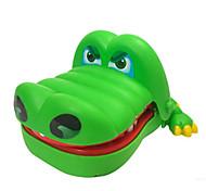 abordables -Dentiste Crocodile Anti-Stress Crocodile Professionnel Amusement Musique et Lumière ABS cadeaux noël enfant avec vêtements et accessoires pour les cadeaux d'anniversaire et de festival des filles