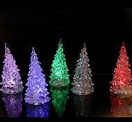 abordables -1pc coloré féerique couleur led nuit lampe lumière arbre de noël ornement acrylique noël table créative décoration de la maison