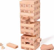 economico -Mattoncini di legno Torri componibili Jenga di legno Taglia grande Bilanciamento Per bambini Per adulto Giocattoli Regali