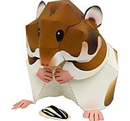 abordables -Puzzles 3D Maquette en Papier Kit de Maquette Hamster Animaux A Faire Soi-Même Papier cartonné Classique Enfant Unisexe Garçon Jouet Cadeau
