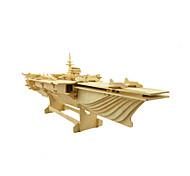 abordables -Puzzles 3D Puzzle Kit de Maquette Navire de Guerre Porte-avion En bois Porte-avion Enfant Adulte Unisexe Garçon Fille Jouet Cadeau / Maquettes de Bois