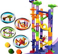 abordables -Blocs de Construction Labyrinthe Ensemble de piste en marbre Jouet Educatif Circuit à Bille Jouets de bricolage 105 pcs Plastique Garçon Fille Enfant Jouet Cadeau
