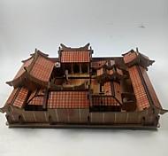 abordables -Puzzles 3D Puzzle Architecture Chinoise Maison En bois Unisexe Jouet Cadeau