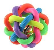 abordables -Peluches Chat Chien 1 Mignon Jouet qui Couine Élastique Amusement Balle Colorée Caoutchouc Cadeau Jouet pour animaux de compagnie Jeu d'animaux