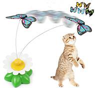 abordables -Jouets pour Chat Jouets Interactifs pour Chat Jouets amusants pour chats Chat Petit Chat Papillon Plastique Cadeau Jouet pour animaux de compagnie Jeu d'animaux