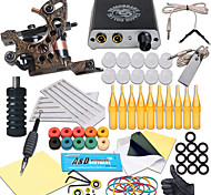 economico -Kit professionale per tatuaggi Macchina del tatuaggio - 1 pcs Macchinette per Tatuaggio , Professionale Mini-alimentatore 1 x macchina in ghisa per linee e ombre