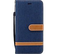 abordables -téléphone Coque Pour Samsung Galaxy Coque Intégrale J5 (2016) J3 (2016) J3 Portefeuille Porte Carte Avec Support Couleur Pleine Dur faux cuir