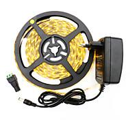 economico -HKV 5m Strisce luminose LED flessibili 300 LED 3528 SMD 8mm 1pc Bianco caldo Bianco Accorciabile Auto-adesivo Strisce LED Tiktok 12 V