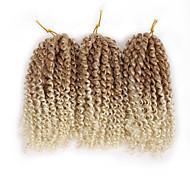 abordables -Crochet Hair Braids Marley Bob Box Braids Cheveux Synthétiques Rajouts de Tresses 60 racines / paquet / Il y a 3 paquets dans un paquet. Normalement, 5 à 6 paquets suffisent pour une tête pleine.