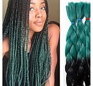 abordables -Crochet Hair Braids Jumbo Box Braids A Ombre Cheveux Synthétiques Rajouts de Tresses 3 racines