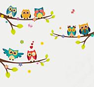 abordables -animaux / mode / stickers muraux botaniques stickers muraux animaux stickers muraux décoratifs, décoration de la maison en plastique sticker mural décoration murale 1 set 70 * 25cm * 2pcs