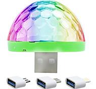 abordables -ywxlight® rgb led stage de musique spectacle club disco dj lumière projecteur laser contrôle du son cristal effet boule magique lumières