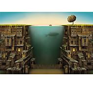 abordables -1000 pcs Poissons Maison Paysage marin Puzzle Puzzle adulte Géant En bois Enfants Adulte Jouet Cadeau